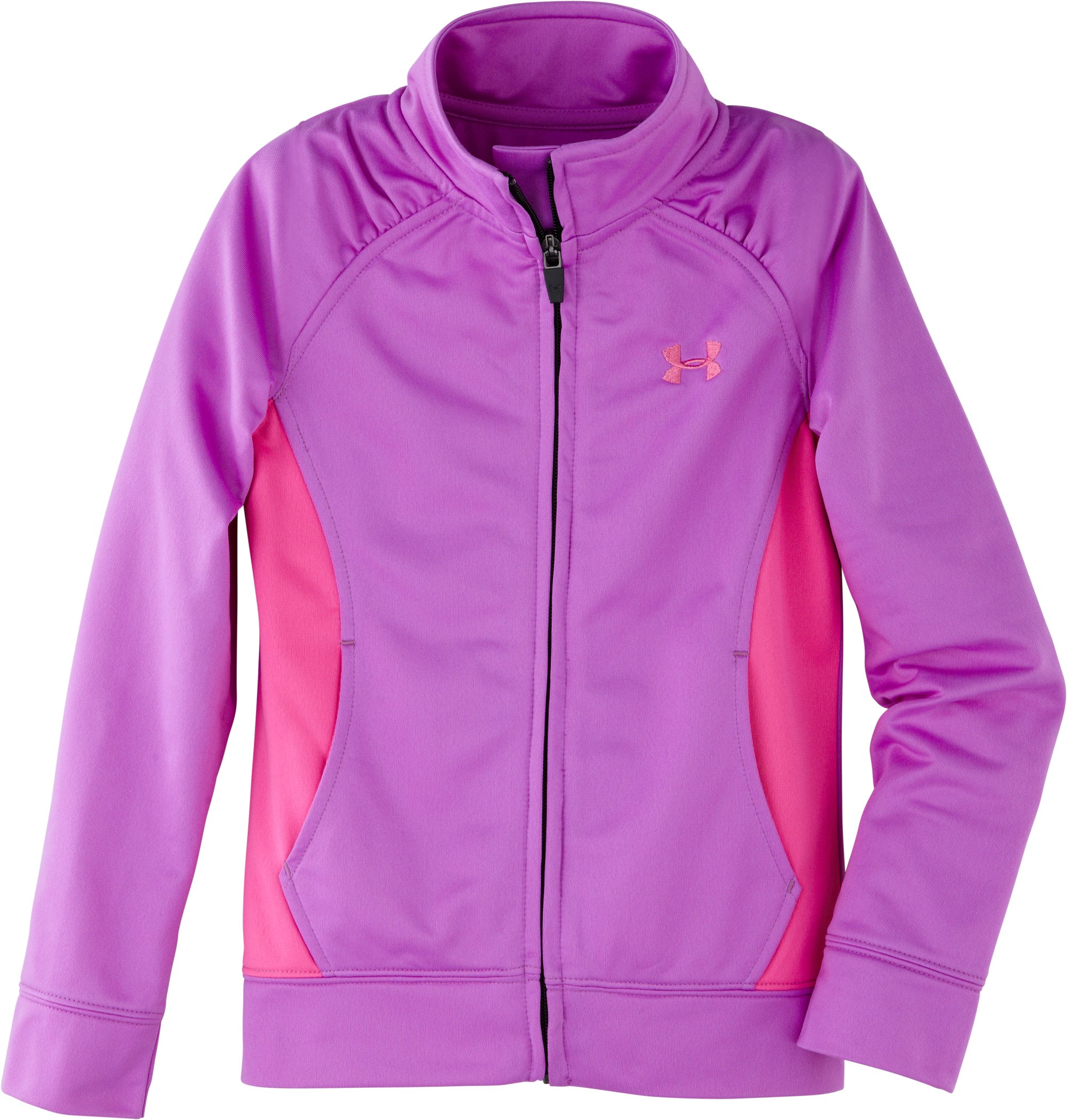 Girls' Pre-School UA Track Jacket, EXOTIC BLOOM, undefined