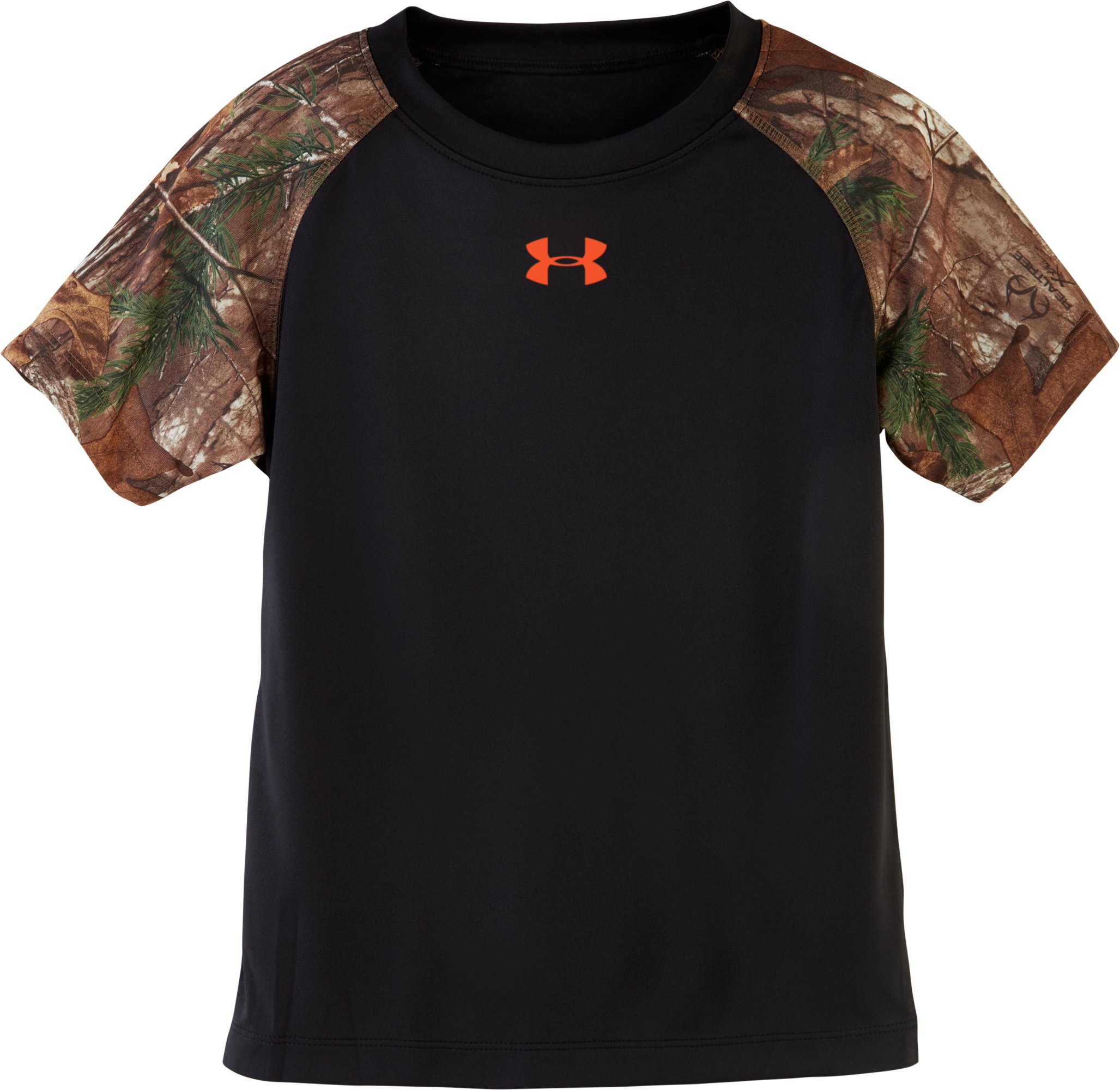 Boys' Toddler UA Camo Raglan T-Shirt, Black , zoomed image