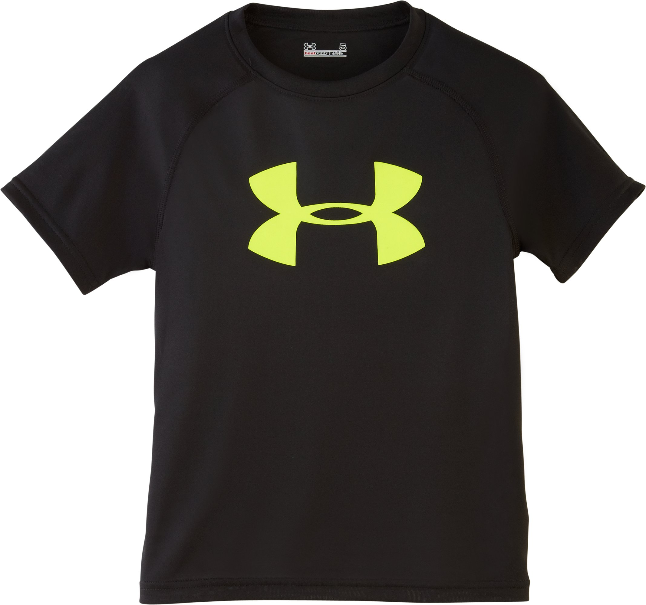 Boys' Toddler UA Big Logo Solid T-Shirt, Black , Laydown