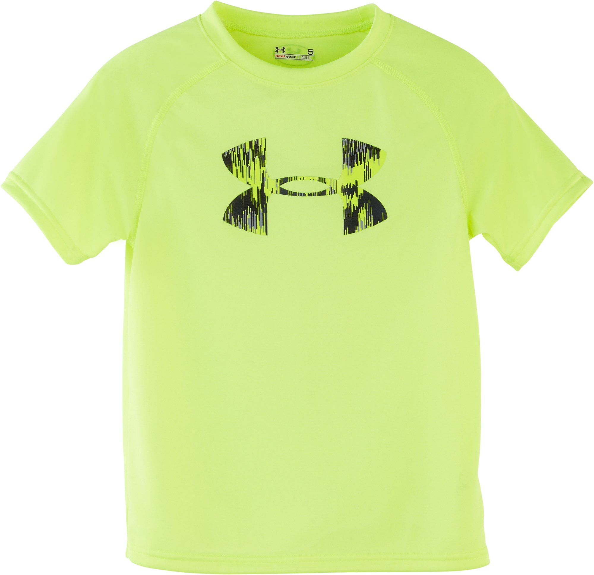 Boys' Infant UA Big Logo Seismic T-Shirt, High-Vis Yellow, Laydown