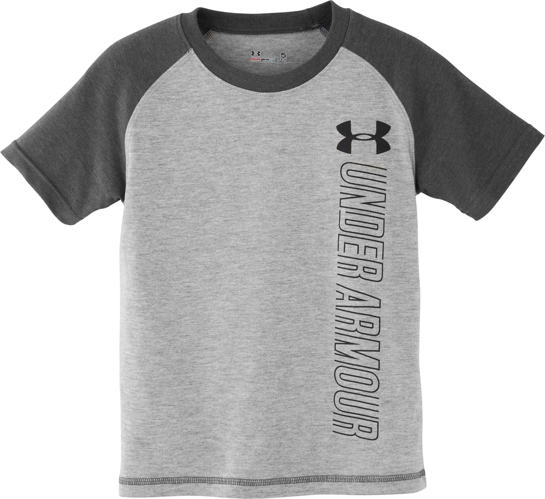Boys' Infant UA Baseball T-Shirt, True Gray Heather, Laydown