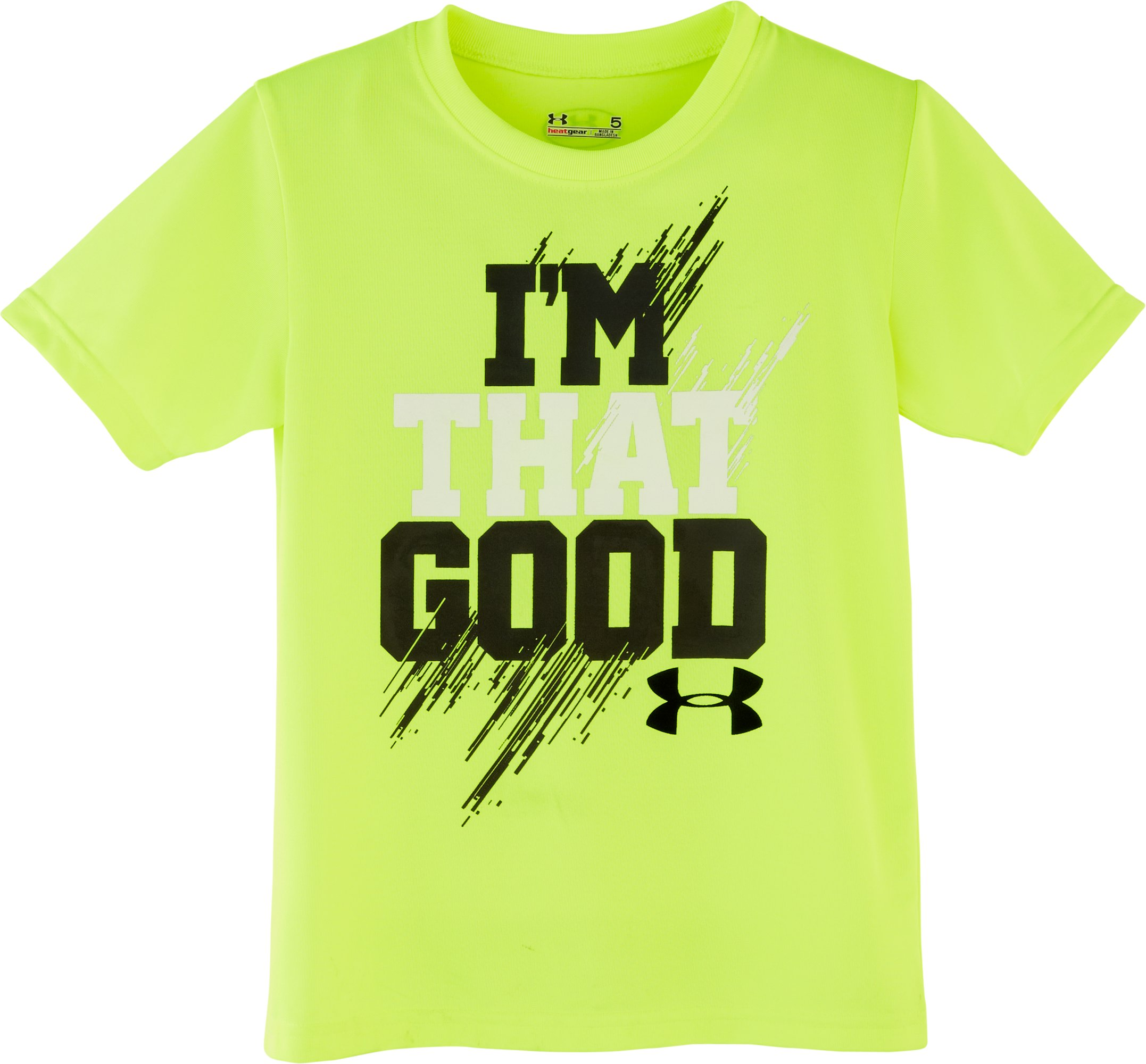 Boys' Toddler UA I'm That Good T-Shirt, High-Vis Yellow, Laydown