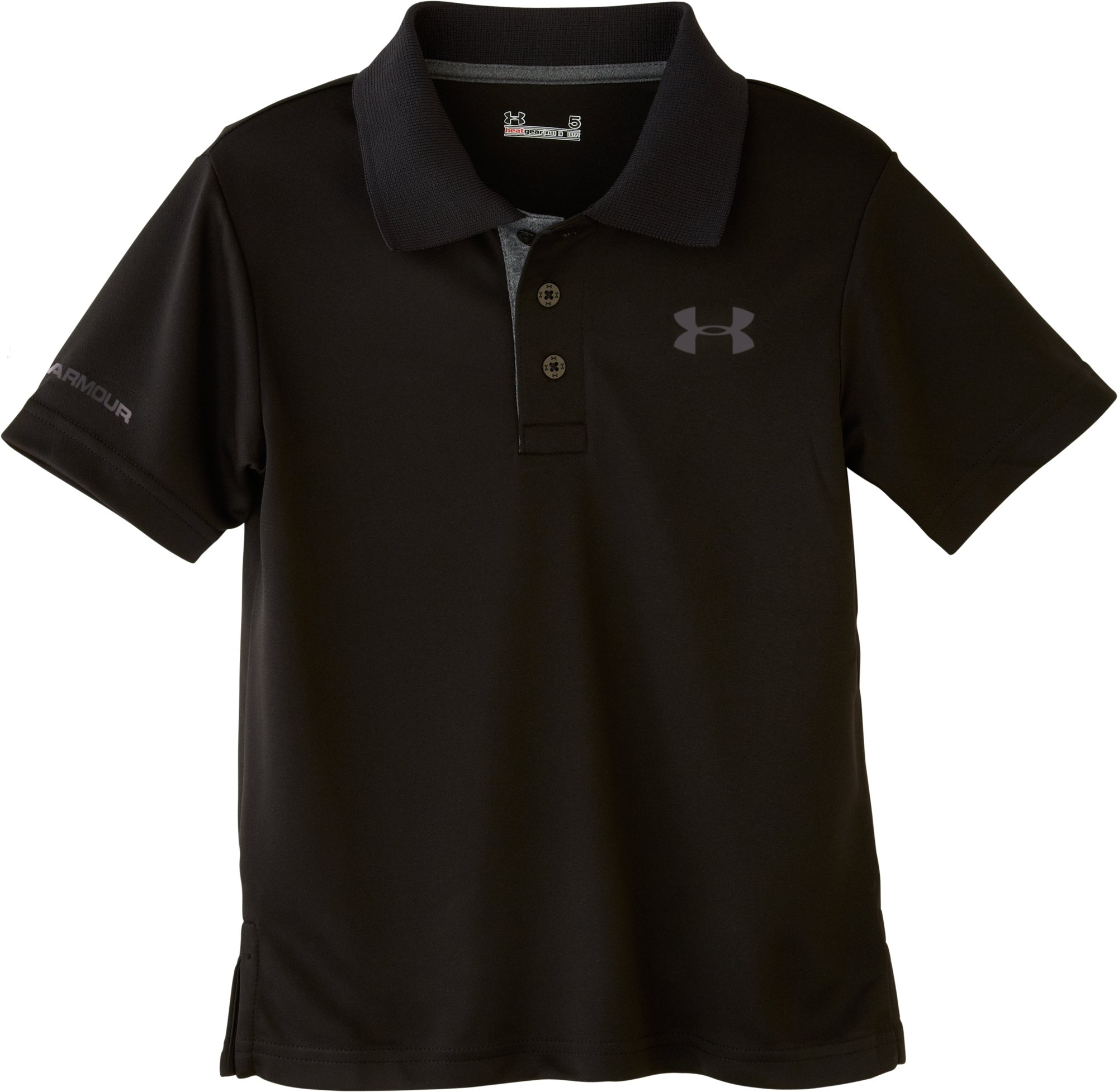 Boys' Toddler UA Match Play Polo, Black , Laydown