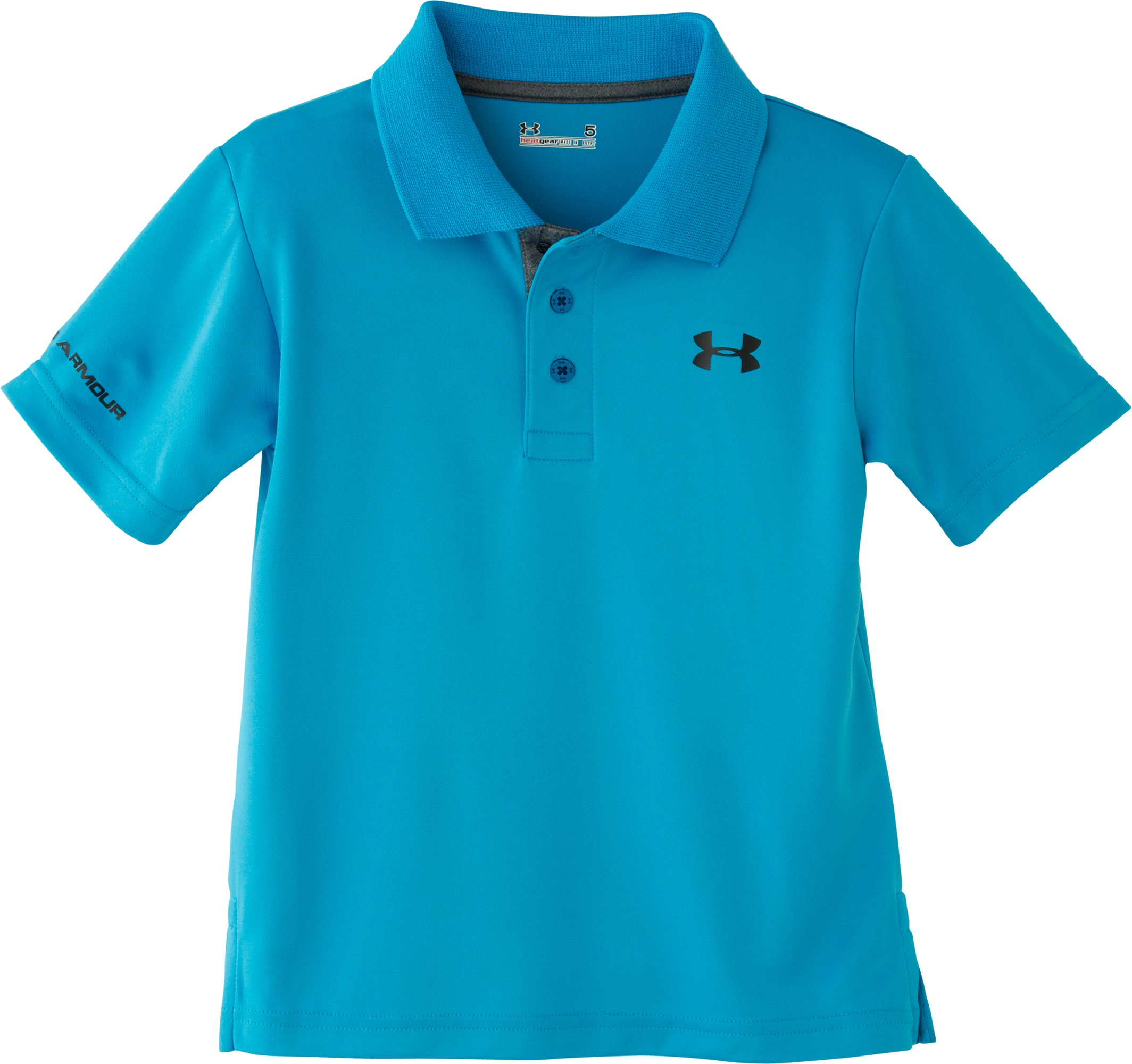 Boys' Toddler UA Match Play Polo, PIRATE BLUE, Laydown