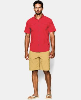 Men's UA Iso-Chill Flats Guide Short Sleeve Shirt