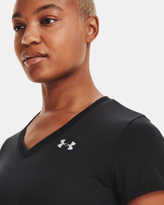Women's UA Tech™ V-Neck, Black, pdpMainDesktop image number 7