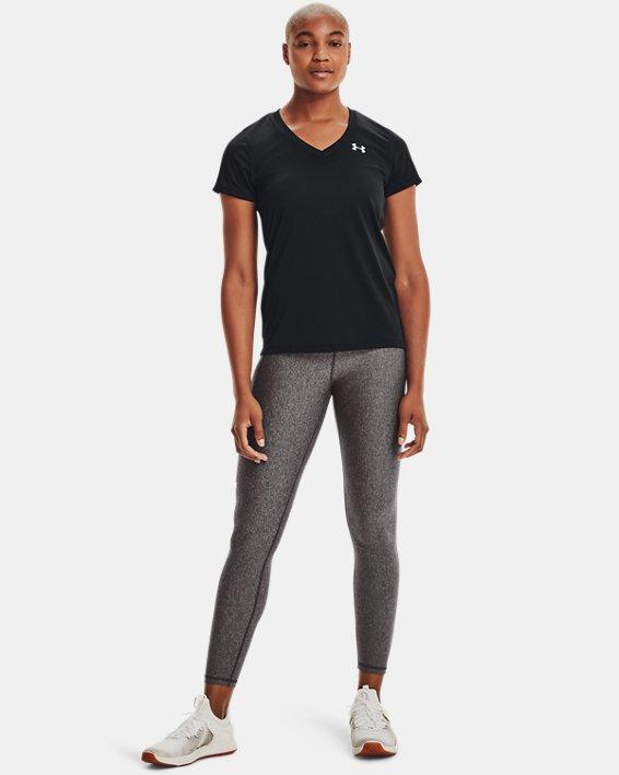 Women's UA Tech™ V-Neck, Black, pdpMainDesktop image number 3