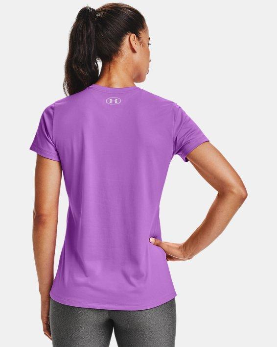 T-shirt en V UA Tech™ pour femme, Purple, pdpMainDesktop image number 2