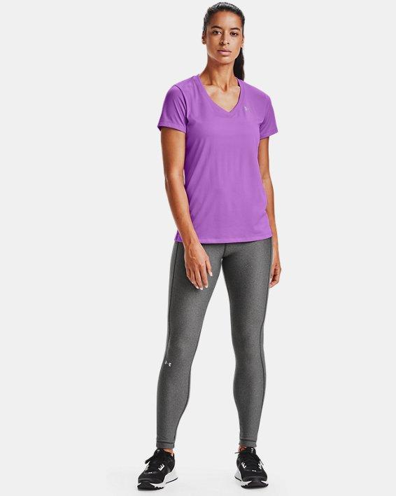 T-shirt en V UA Tech™ pour femme, Purple, pdpMainDesktop image number 1