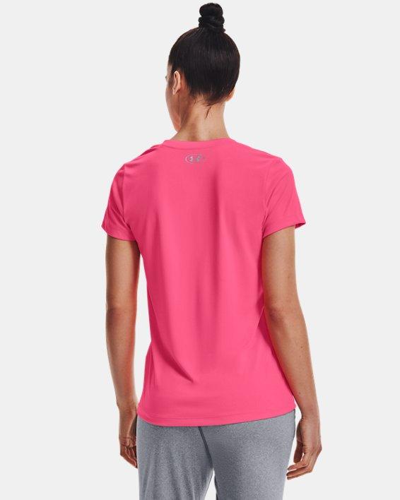 Maglia con collo a V UA Tech™ da donna, Pink, pdpMainDesktop image number 2