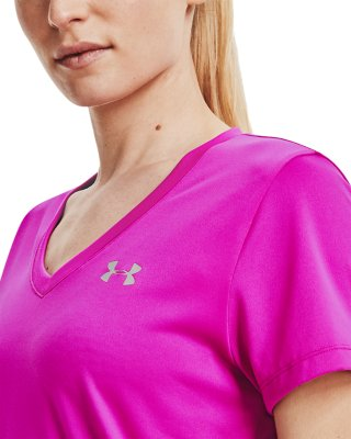 Maglietta Donna Solid Tech Short Sleeve V Under Armour