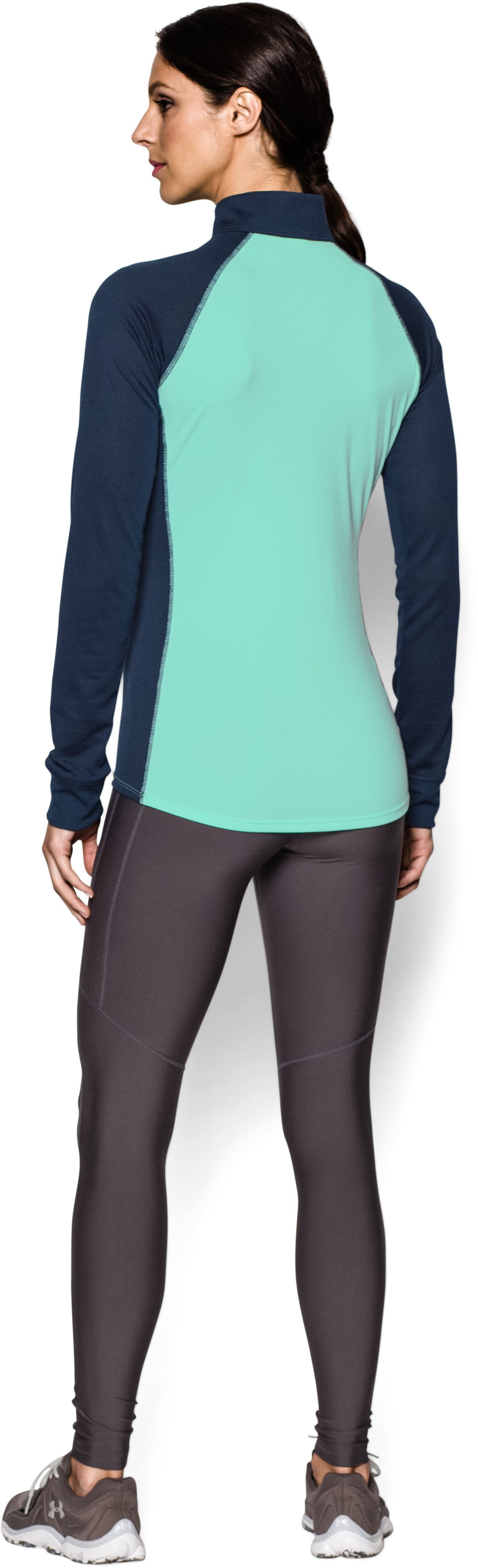 Women's UA Tech™ ½ Zip, CRYSTAL, Back