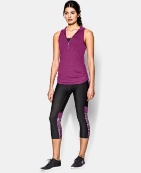 Women's UA Charged Cotton® Tri-Blend My Way Sleeveless Hoodie  1 Color $33.99