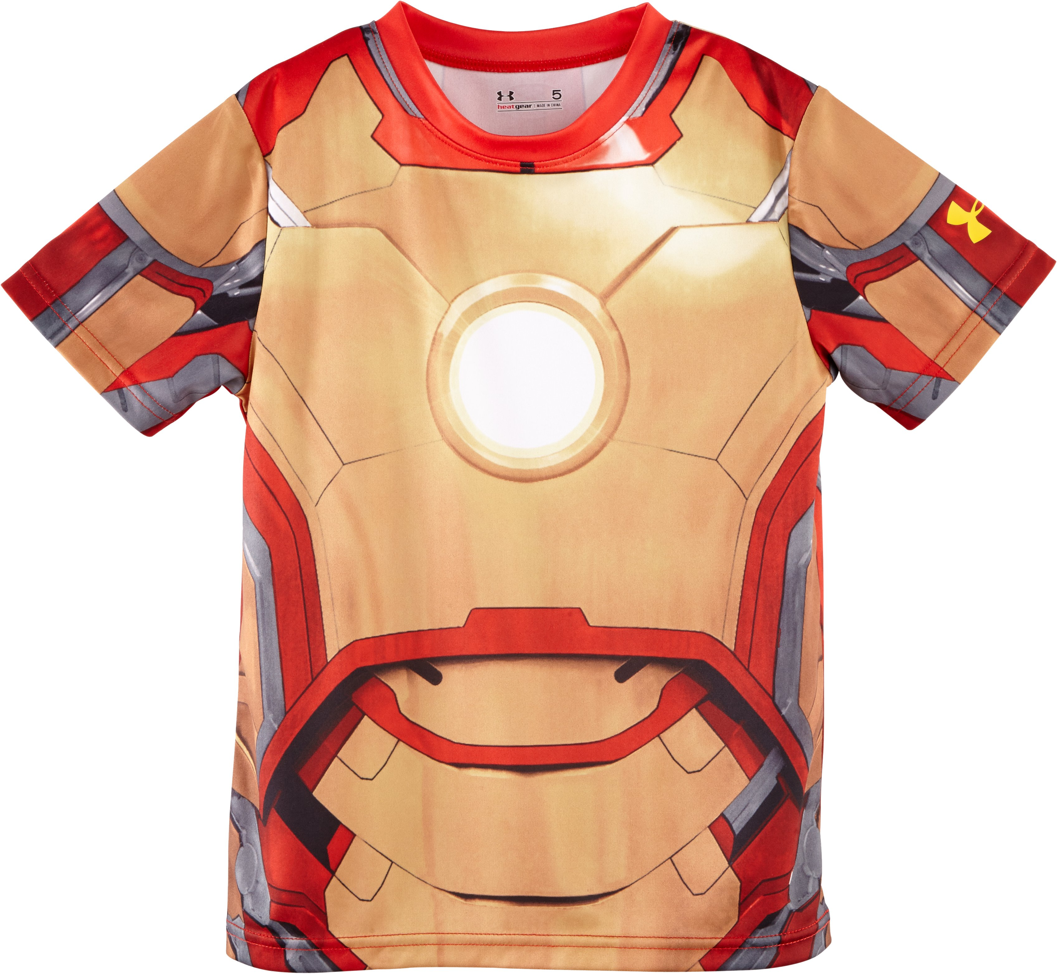 Boys' Toddler Under Armour® Alter Ego Iron Man T-Shirt, Gold, Laydown