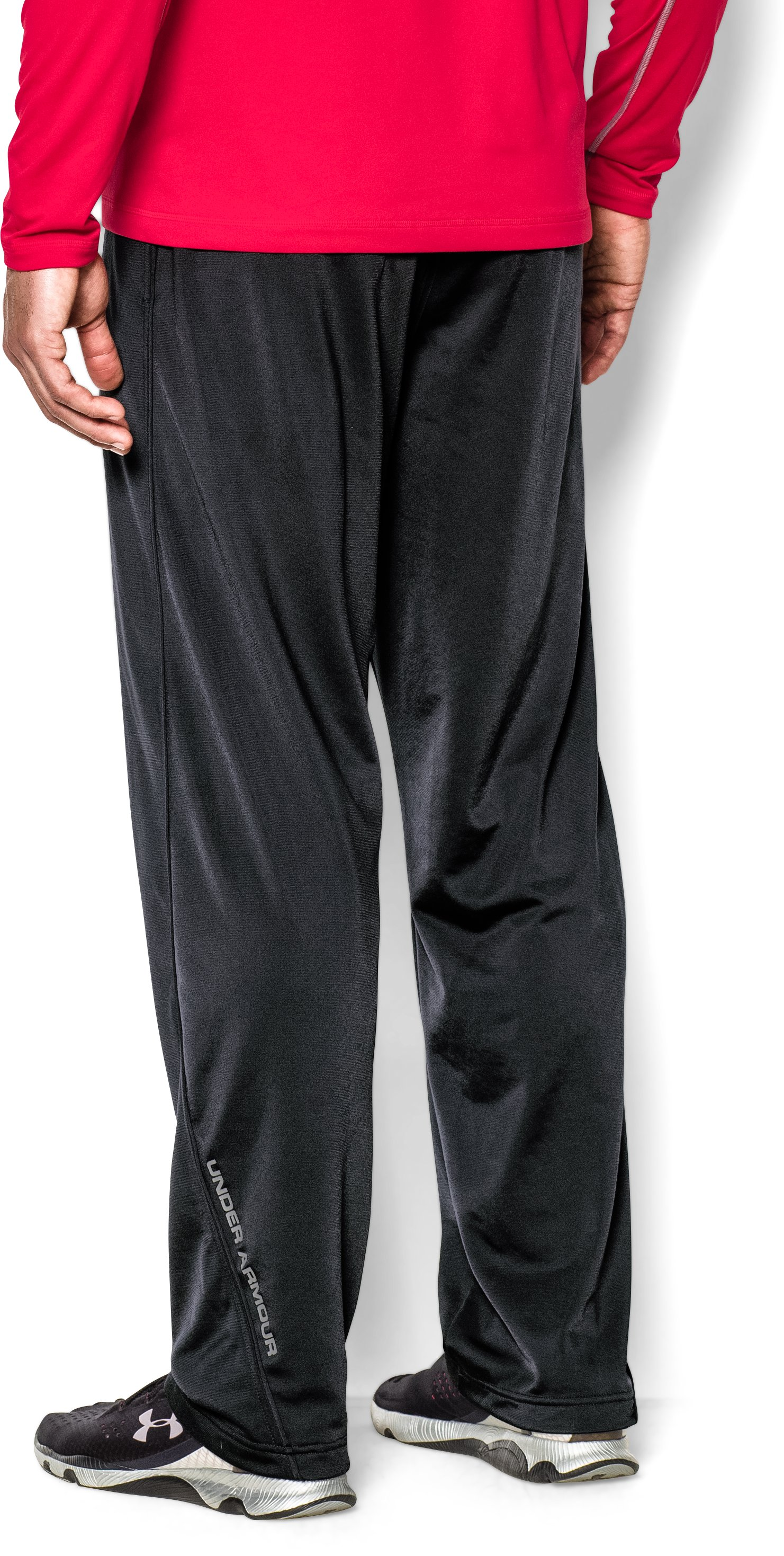 Men's UA Relentless Warm-Up Pants — Straight Leg, Black ,