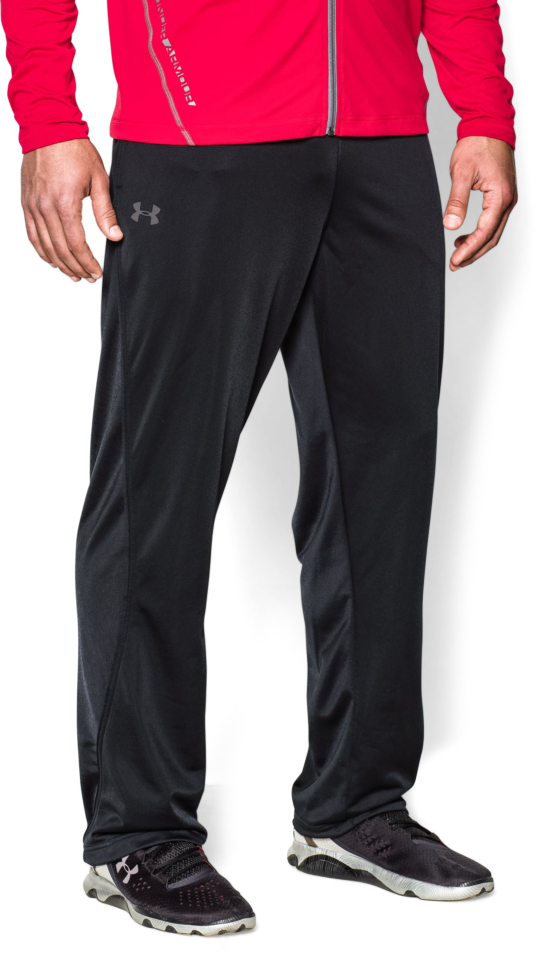 Men's UA Relentless Warm-Up Pants — Straight Leg, Black
