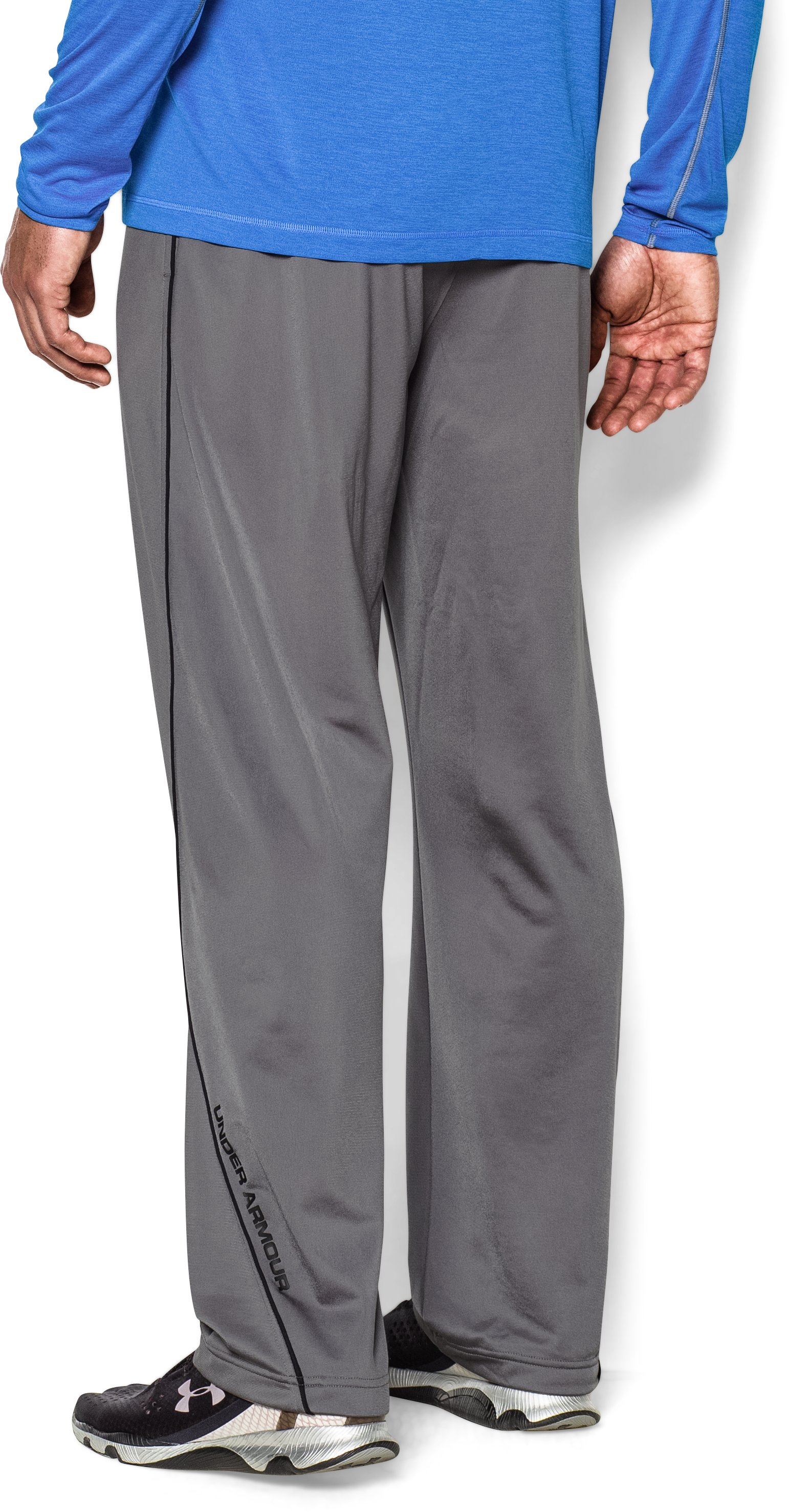 Men's UA Relentless Warm-Up Pants — Straight Leg, Graphite,