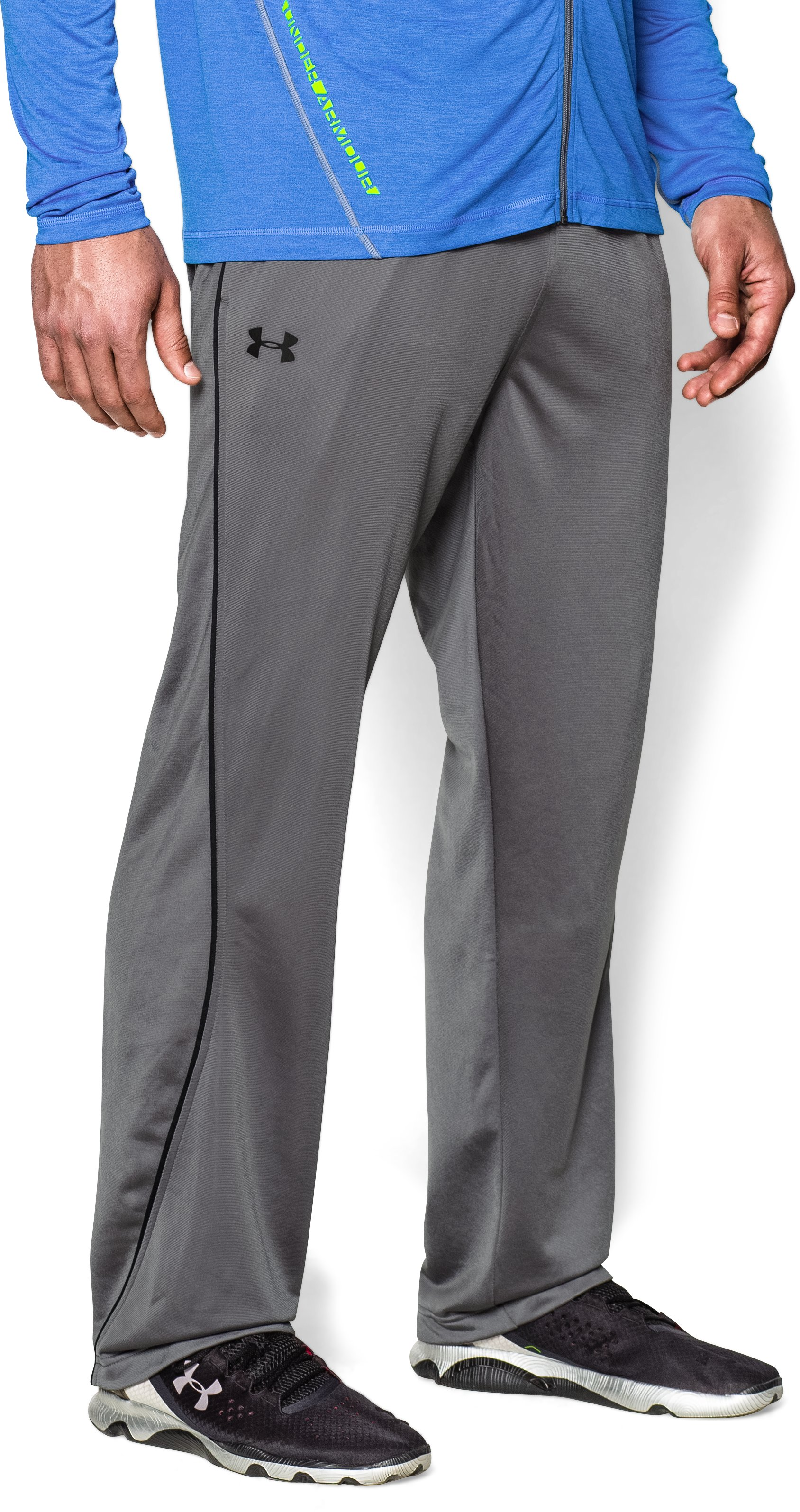 Men's UA Relentless Warm-Up Pants — Straight Leg, Graphite