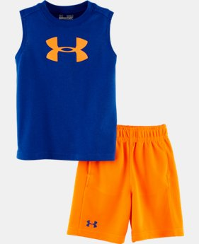 Boys' Infant UA Big Logo Muscle 2-Piece Set