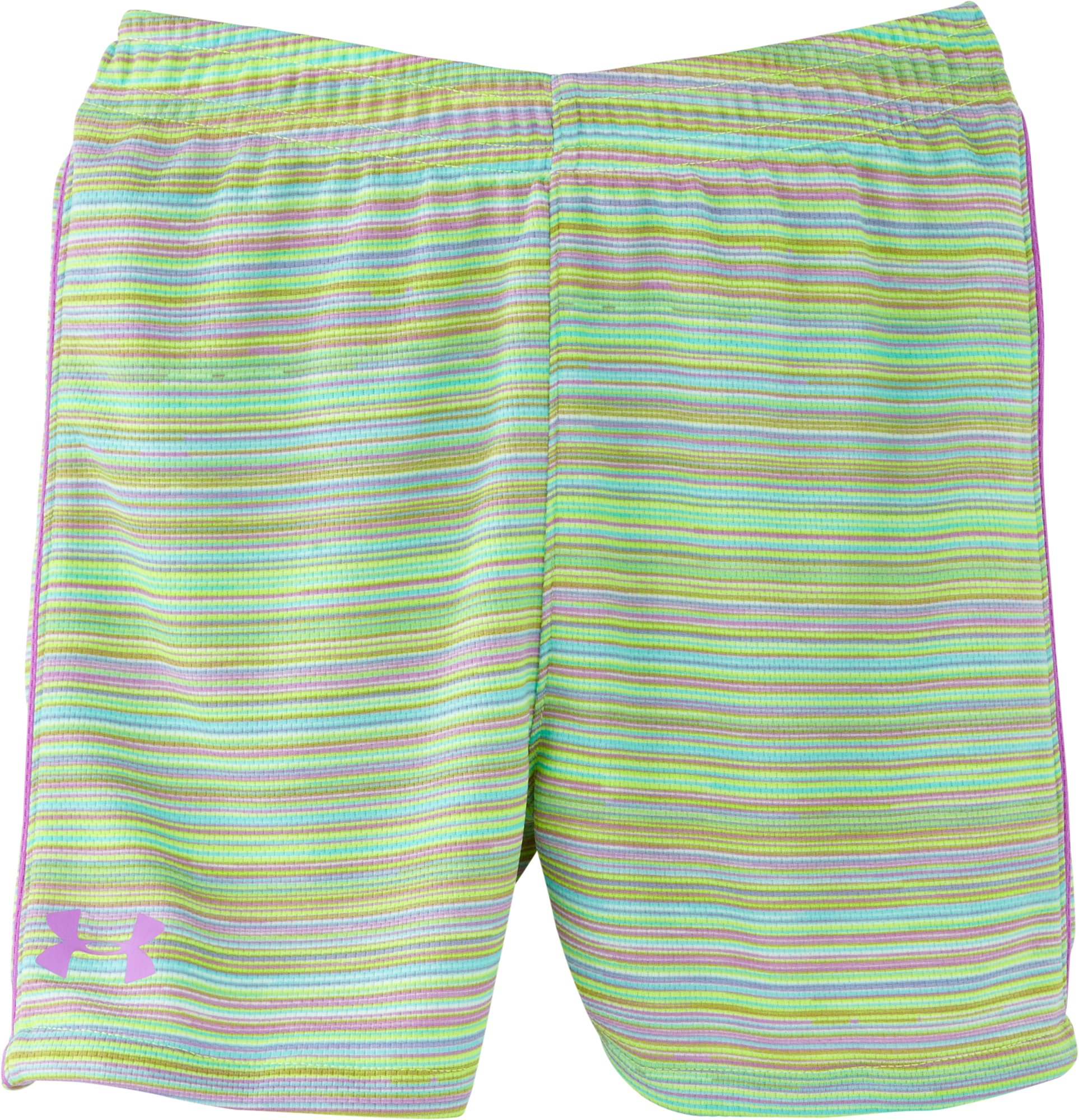 Girls' Pre-School UA Multi Thread Mesh Shorts, EXOTIC BLOOM, Laydown