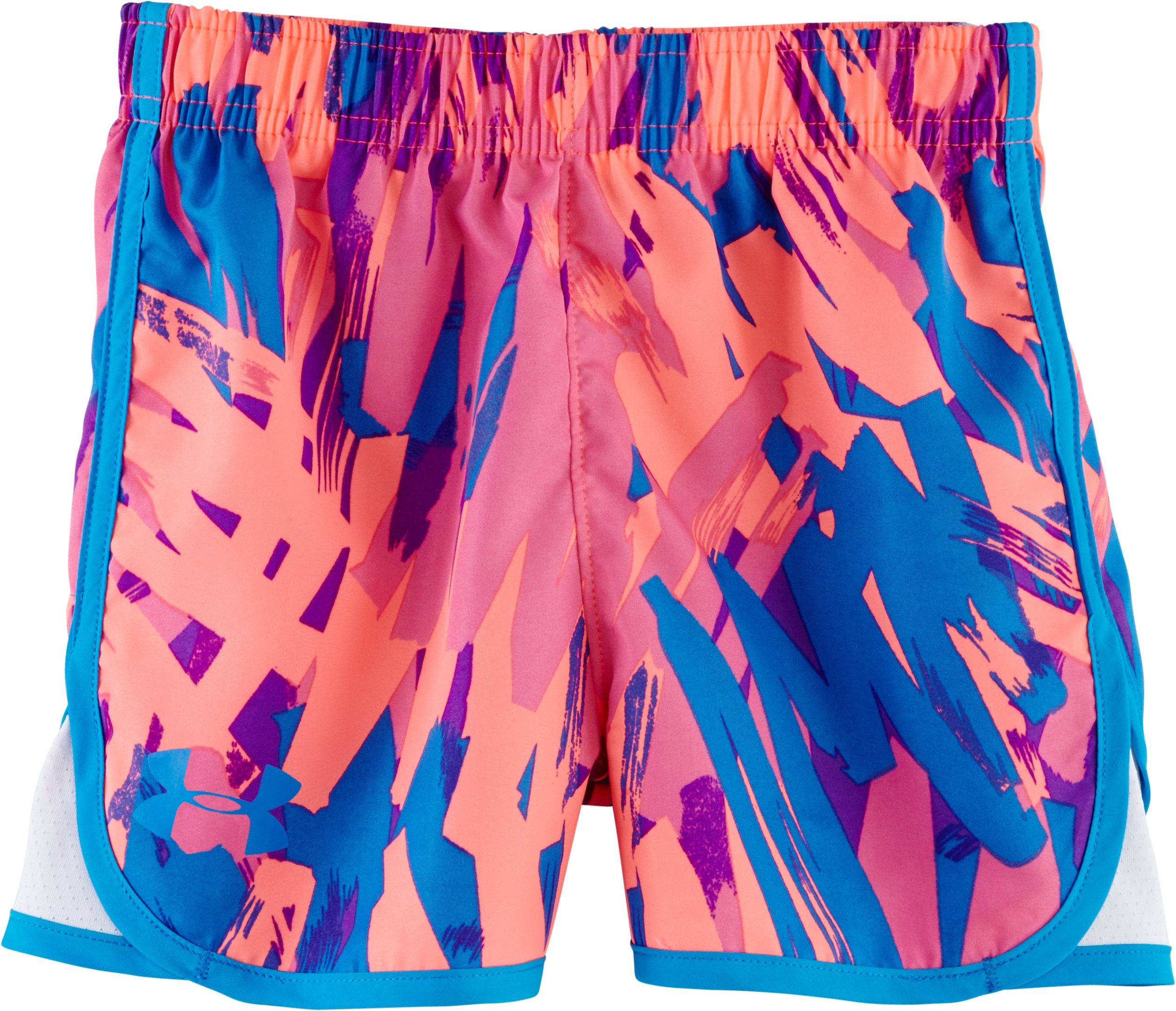 Girls' Pre-School UA Escape Giselle Print Shorts, ELECTRIC BLUE