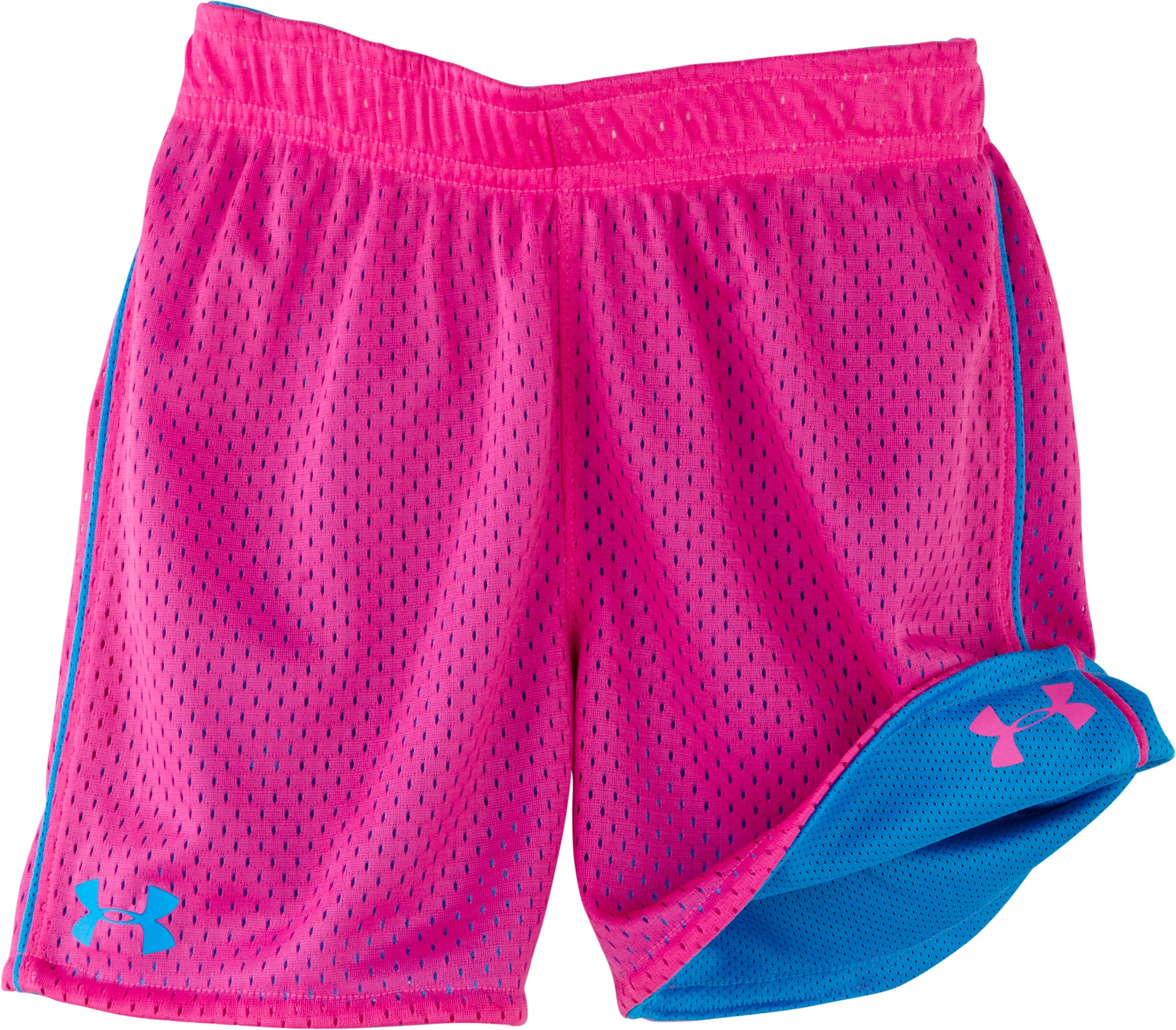 Girls' Infant UA Reversible Shorts, ELECTRIC BLUE, Laydown