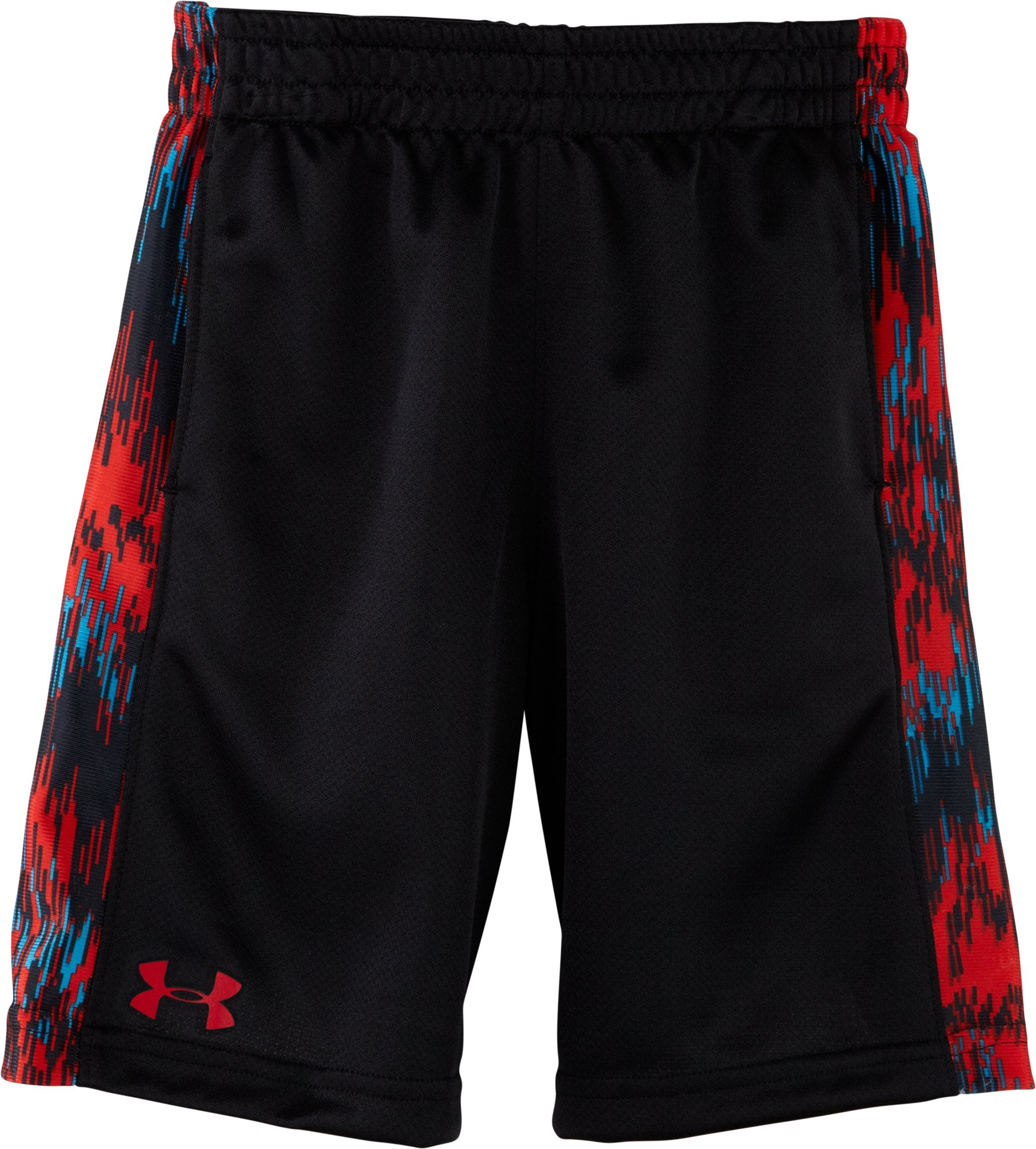 Boys' Pre-School Seismic Reversible Shorts, Black , Laydown