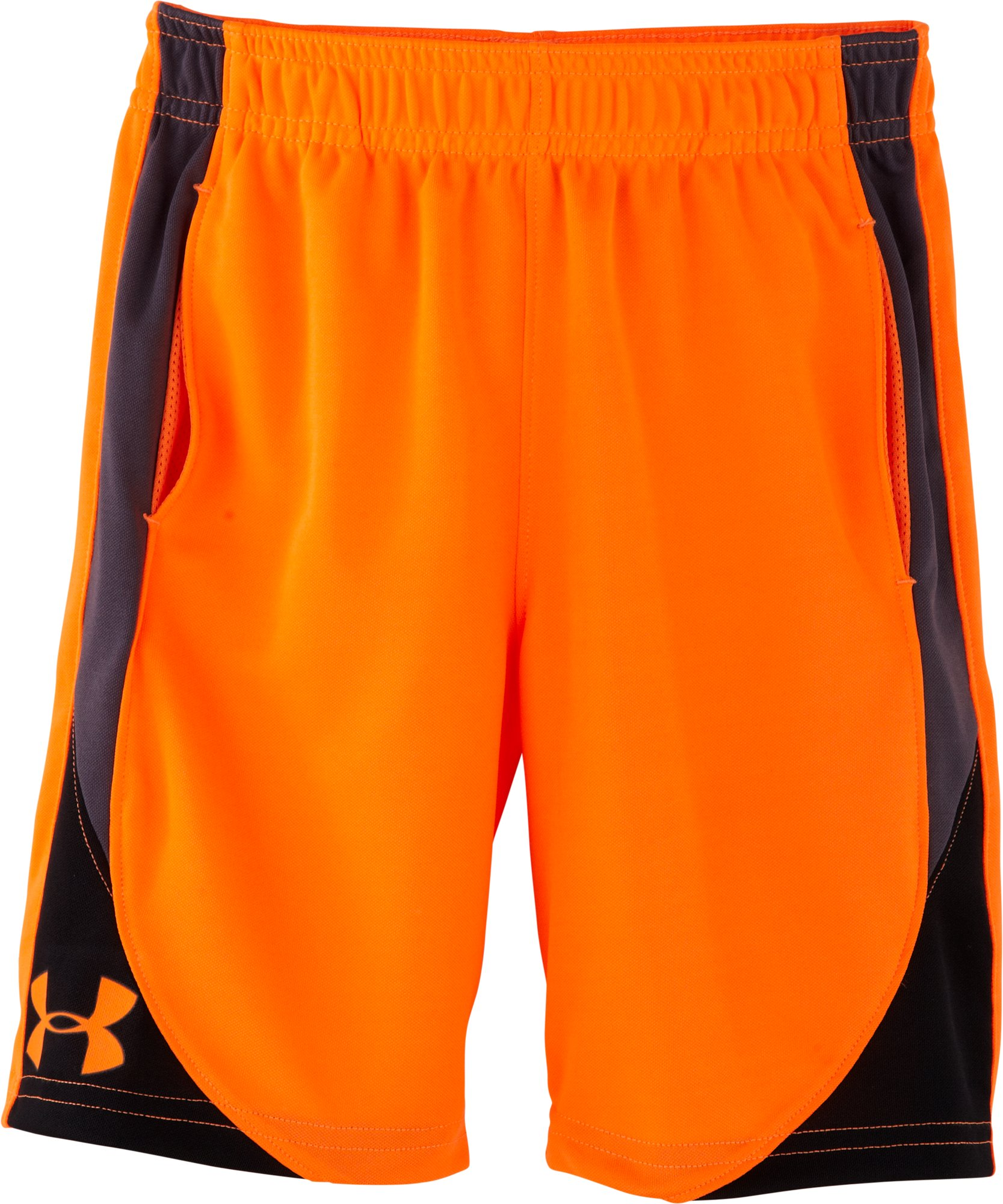 Boys' Pre-School UA Flare Shorts, Blaze Orange, Laydown