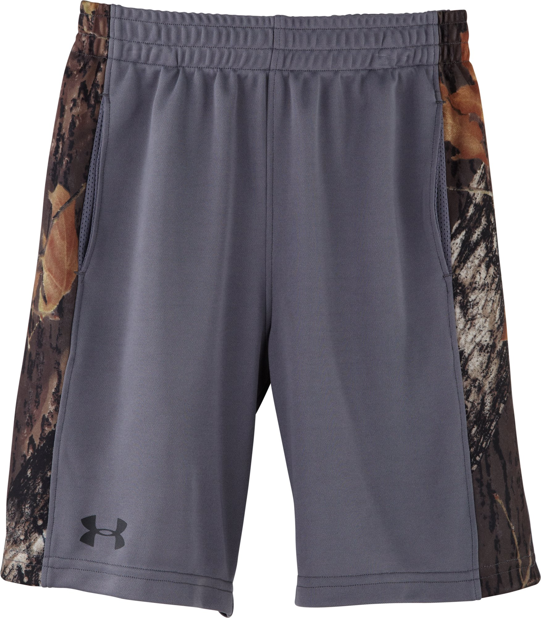 Boys' Toddler UA Ultimate Camo Shorts, Graphite, zoomed image