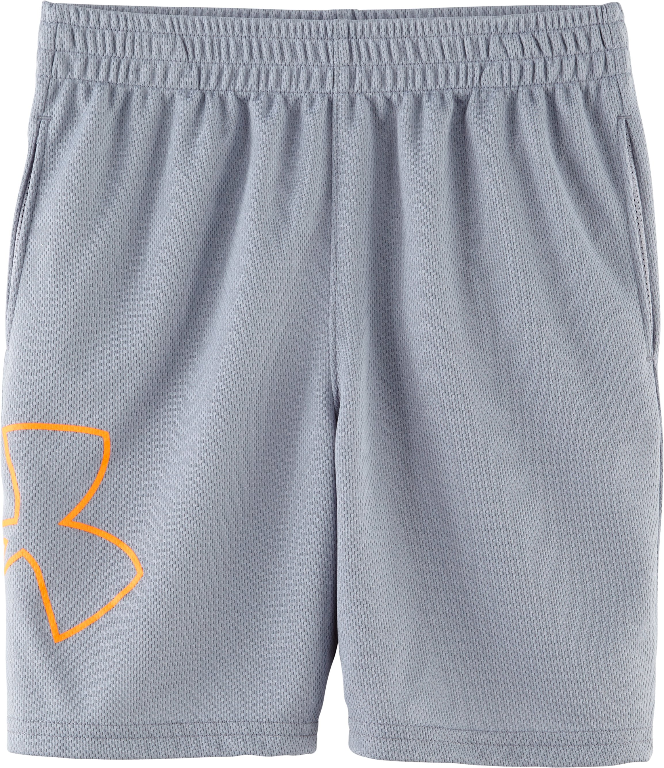 Boys' Infant UA Souped-Up Shorts, Steel, Laydown