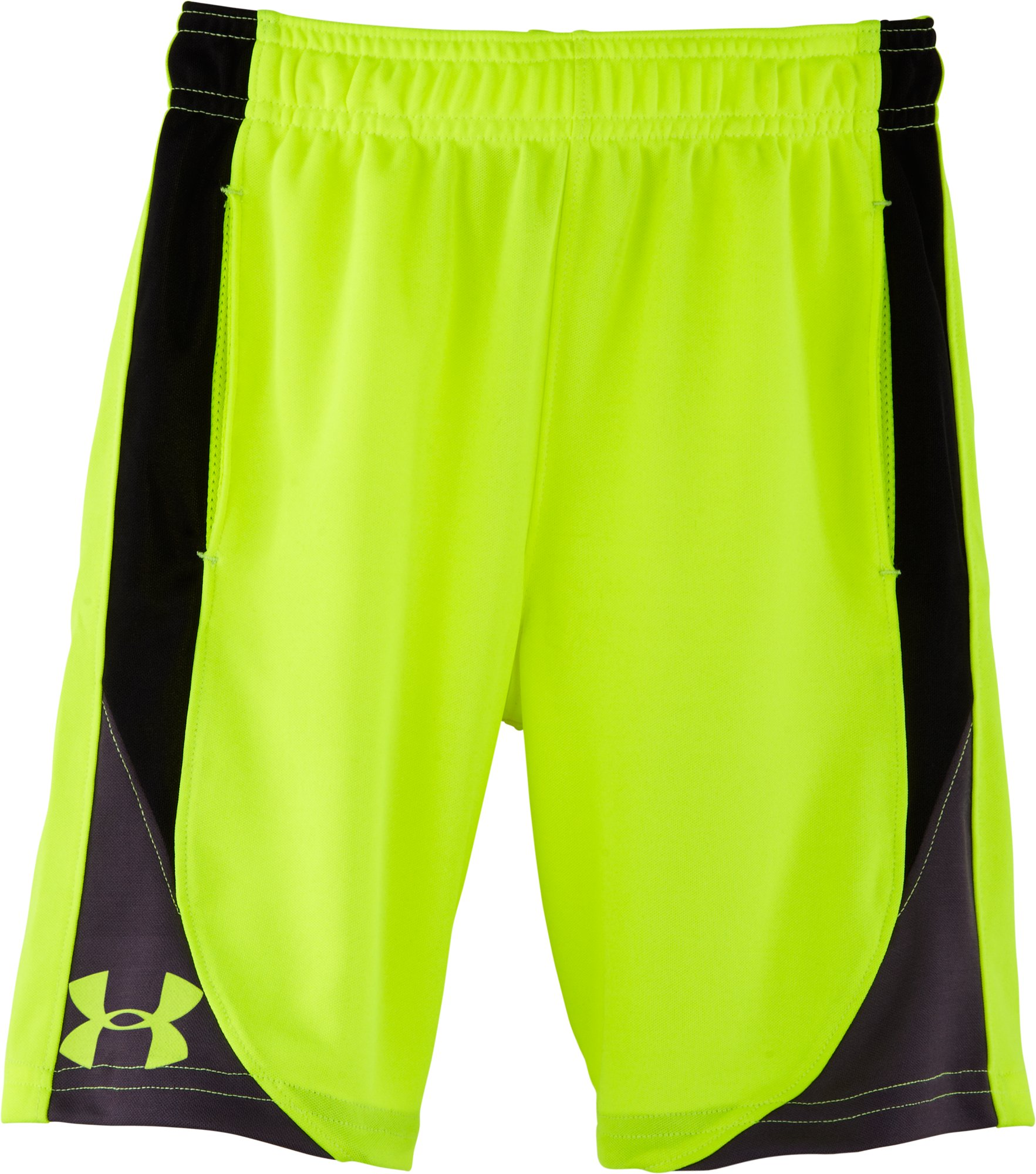 Boys' Toddler UA Flare Shorts, High-Vis Yellow, Laydown