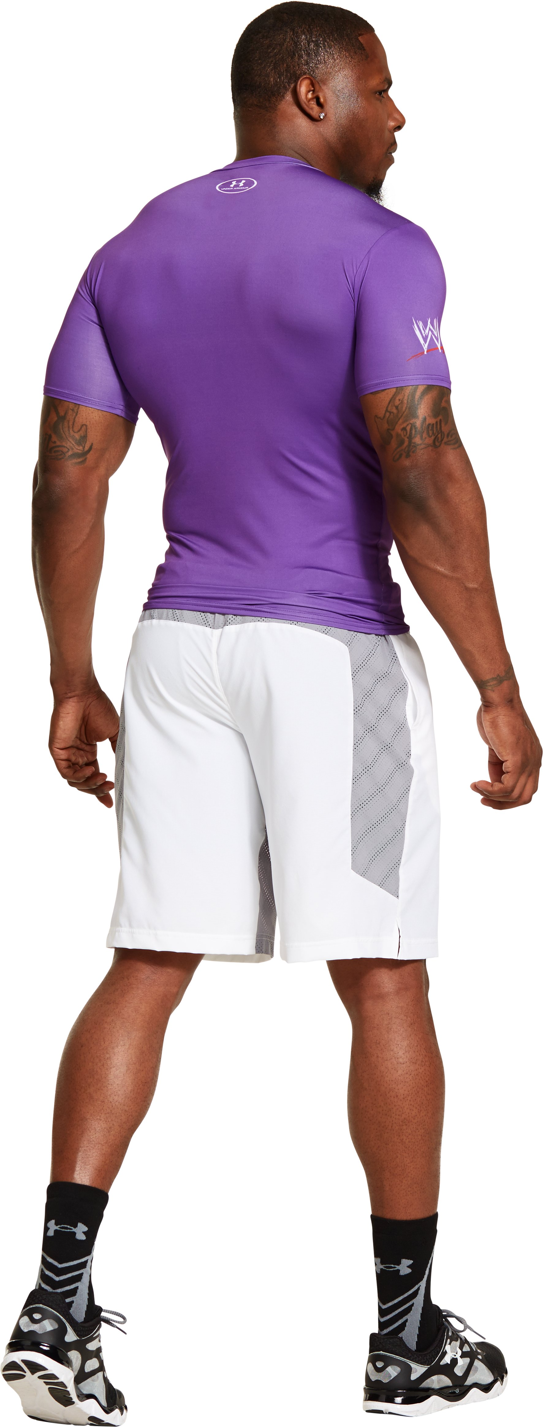 "Men's Under Armour® WWE ""Macho Man"" Randy Savage Compression Shirt, PRIDE, Back"