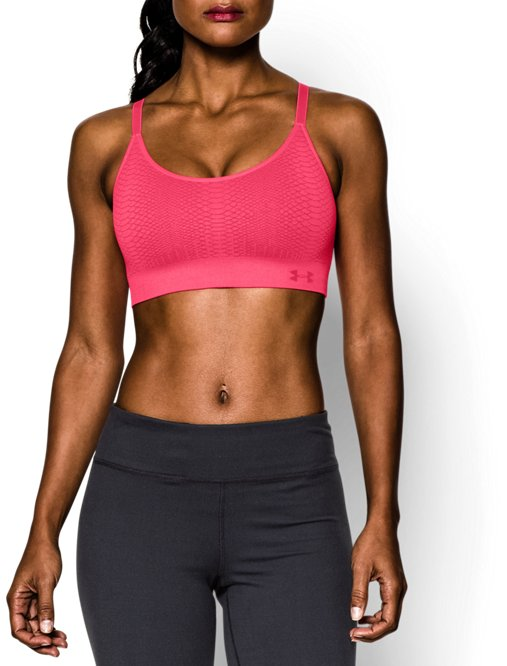 This review is fromWomen s UA Seamless Essential Jacquard Sports Bra. 519b26919