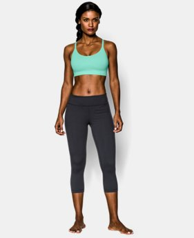 Women's UA Seamless Essential Stripe Sports Bra   $29.99
