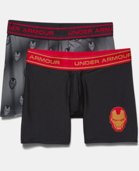 Boys' Under Armour® Alter Ego Iron Man Boxerjock® 2-Pack