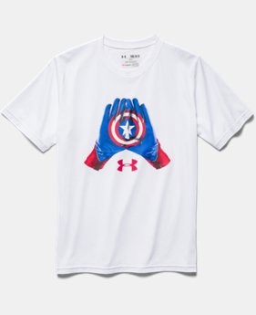 Boys' Under Armour® Alter Ego Captain America Glove T-Shirt