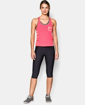Women's UA Printed Fly-By Crop Tank   $20.99