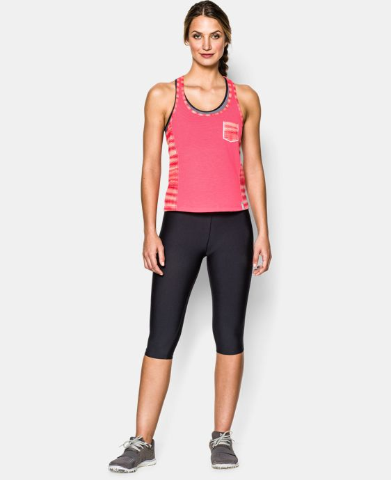 Women's UA Printed Fly-By Crop Tank LIMITED TIME: FREE U.S. SHIPPING  $20.99