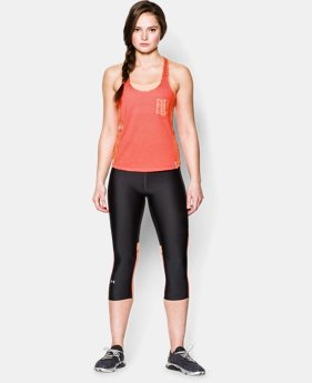 Women's UA Printed Fly-By Crop Tank