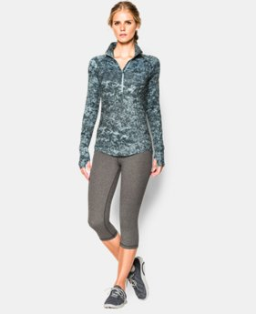 Women's UA Fly Fast Printed ½ Zip  1 Color $56.99
