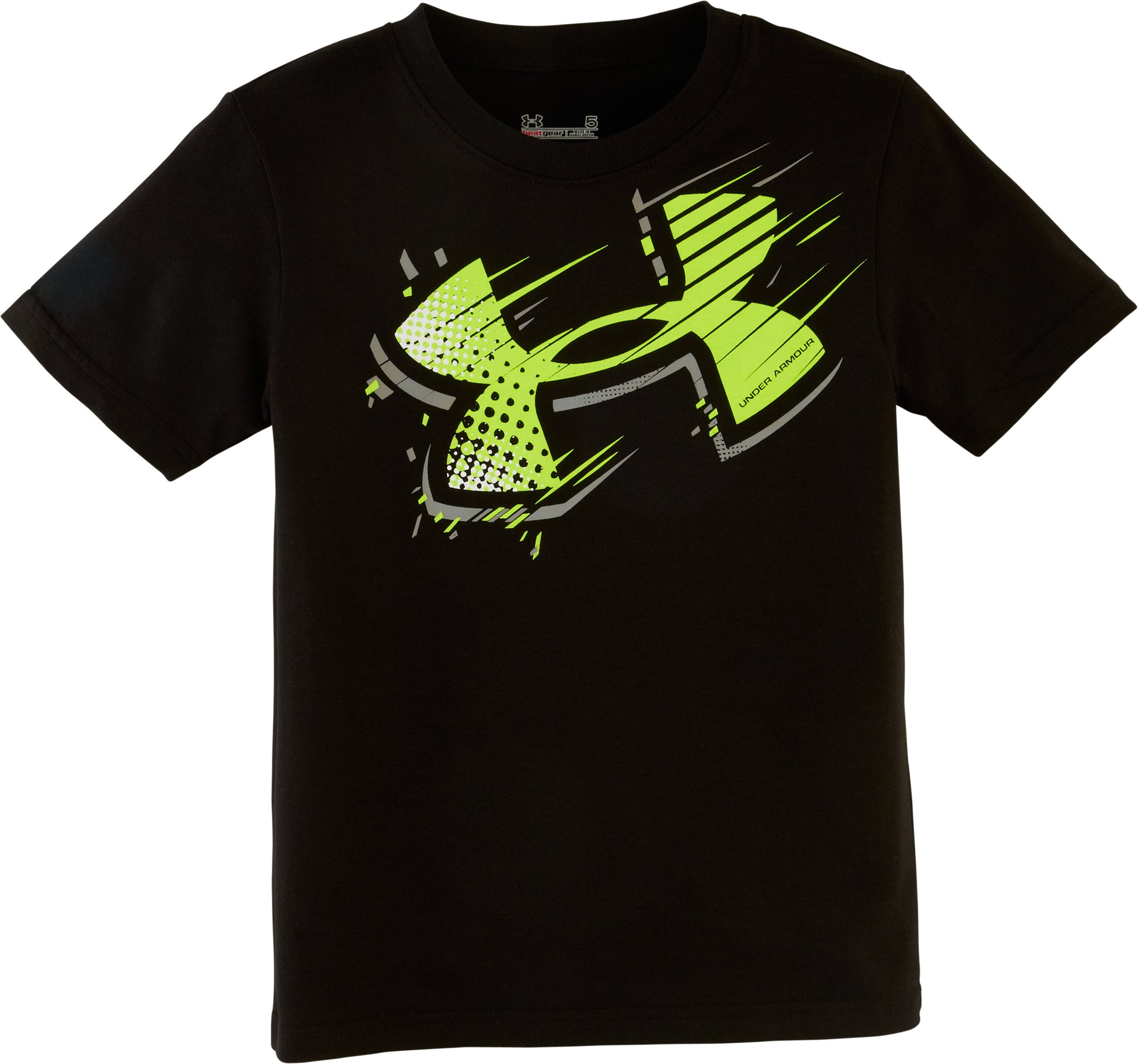 Boys' Toddler UA Motion T-Shirt, Black , Laydown