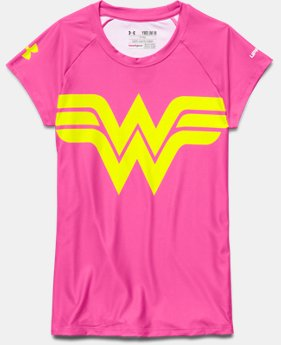 Girls' Under Armour® Alter Ego HeatGear® Sonic Wonder Woman T-Shirt