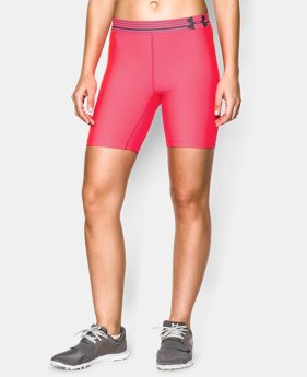 "Women's UA HeatGear® Armour 7"" Short LIMITED TIME: FREE U.S. SHIPPING 1 Color $17.99 to $22.99"