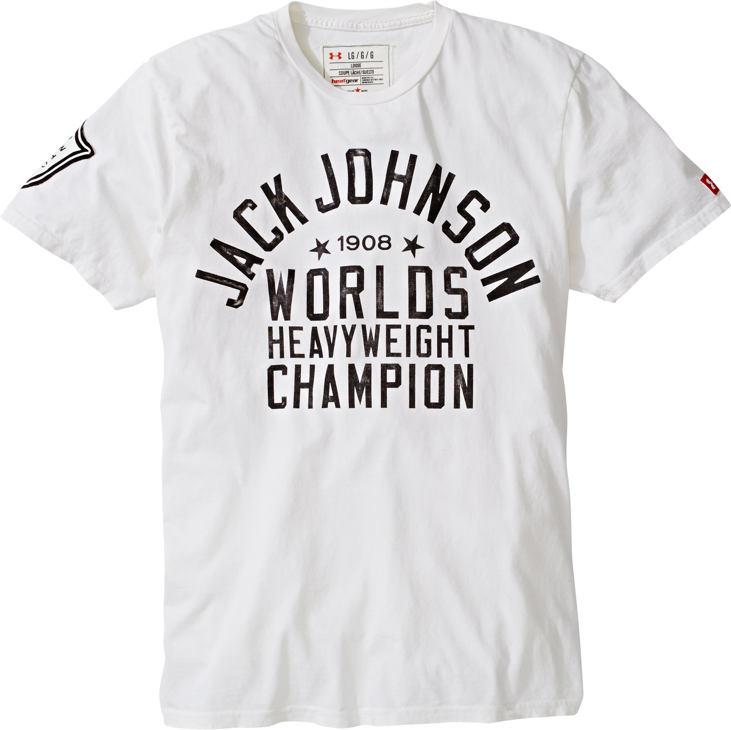 Men's Roots Of Fight™ Jack Johnson T-Shirt, White, Laydown