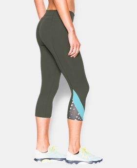 "Women's UA Take-A-Chance Printed 20"" Capri LIMITED TIME: FREE U.S. SHIPPING 1 Color $36.74"