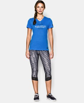 Women's Tough Mudder UA Charged Cotton® Tri-Blend V-Neck