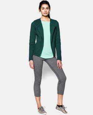 Women's UA Studio Terry Moto Jacket LIMITED TIME: FREE U.S. SHIPPING 1 Color $74.99