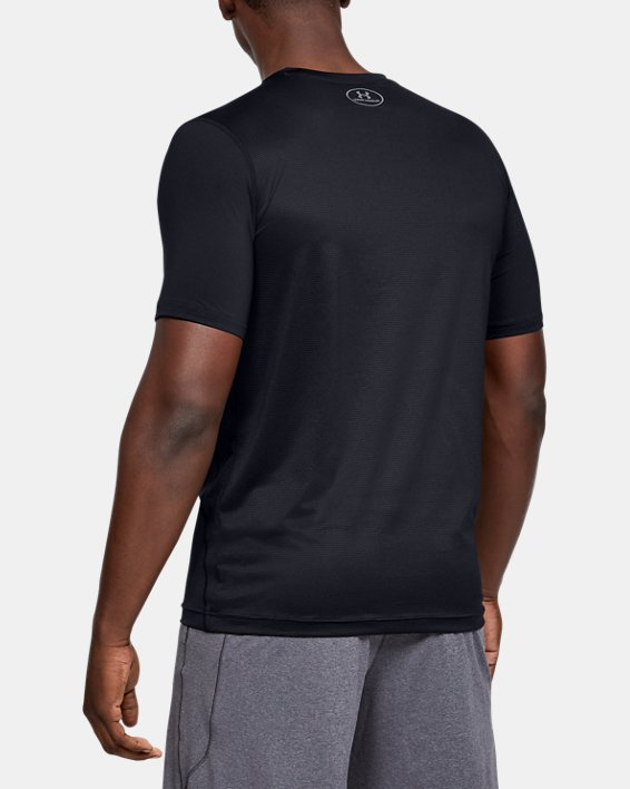 Men's UA Raid Short Sleeve T-Shirt, Black, pdpMainDesktop image number 4