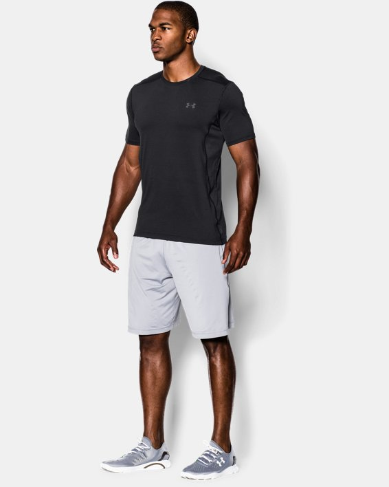 Men's UA Raid Short Sleeve T-Shirt, Black, pdpMainDesktop image number 2
