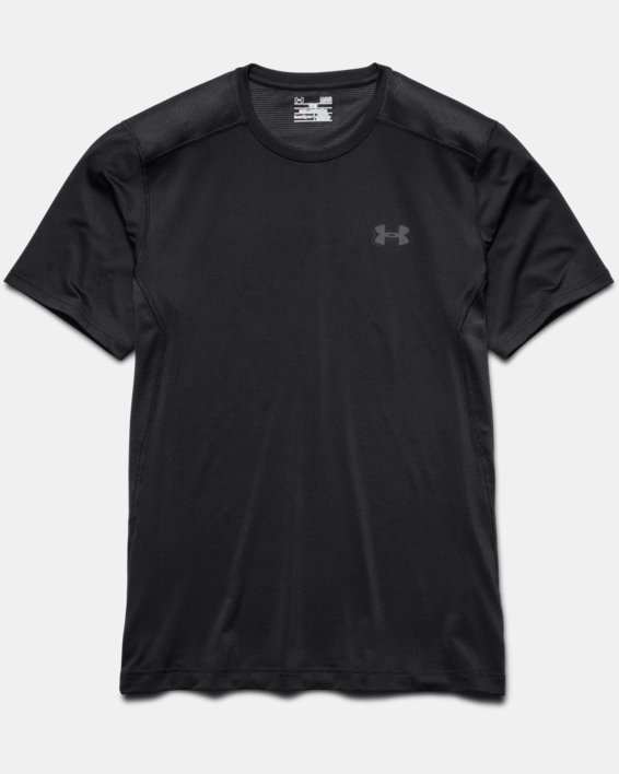 Men's UA Raid Short Sleeve T-Shirt, Black, pdpMainDesktop image number 8